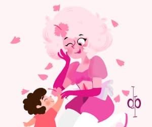 steven, pink diamond, and steven universe image