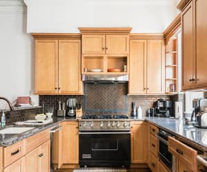 brownstone, cabinetry, and decorating image