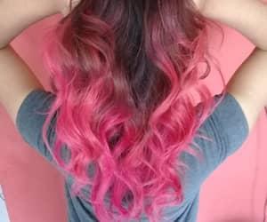 cabelo, pink, and cabelo colorido image