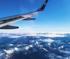 mountain, new zealand, and plane image