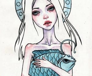 pisces, zodiac, and art image