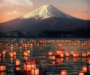 japan, mountain, and beautiful image