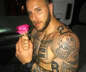 flower, tattoo, and handsome image