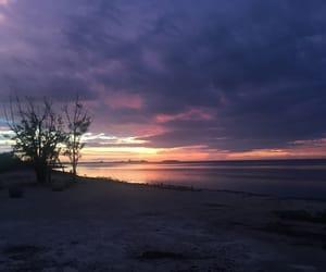Island, landscape, and sunset image