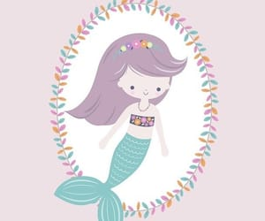 background, mermaid, and wallpaper image