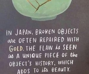 quotes, broken, and gold image