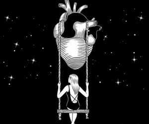 art, heart, and girl image