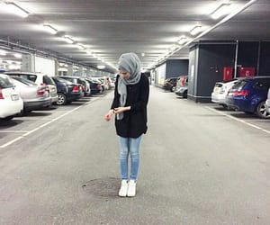 fashion, hijab, and jeans image