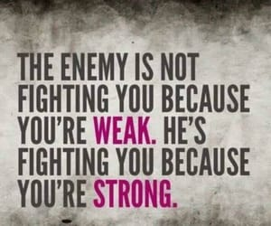 quotes, enemy, and strong image