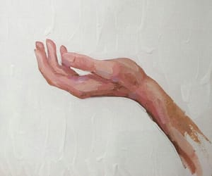 art, picture, and hand image