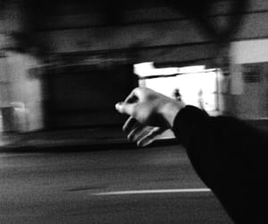 hand, grunge, and night image