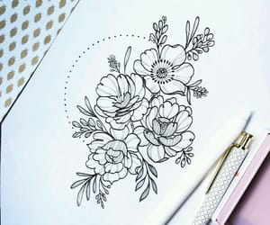 drawing and flower image