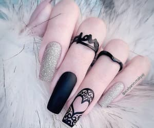 black, design, and nails image