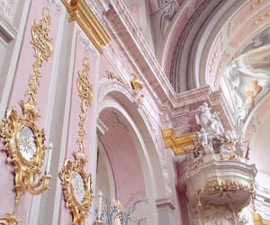 pink, gold, and architecture image