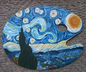 painting and starry night image