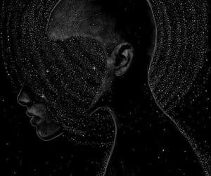 black and stars image