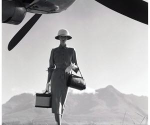 fashion, black and white, and airplane image