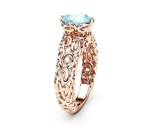 etsy, solitaire ring, and filigree ring image