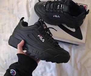 black, shoes, and Fila image
