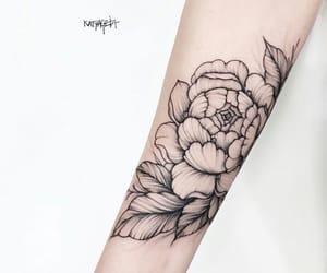 artwork, flower, and girl image