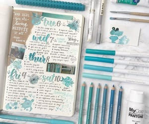 blue, planner, and creative image