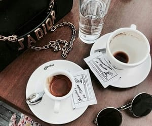 coffee, sunglasses, and aesthetic image