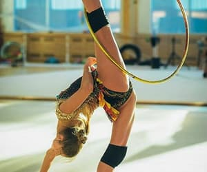hoop, training, and rhytmic gymnastic image