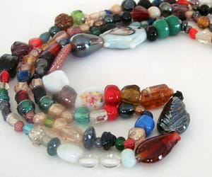 vintage necklace, glass bead necklace, and etsy on sale image