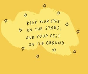 quotes, stars, and yellow image