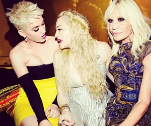 Donatella Versace, katy perry, and madonna image