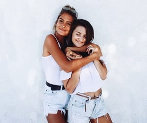 best friends and white image