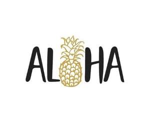Aloha and pineapple image