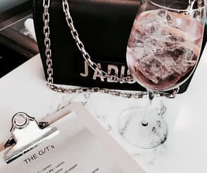 drink, bag, and wine image