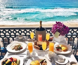 beach, food, and relax image