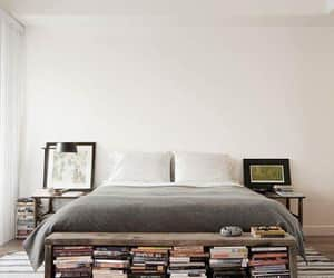 books, interior, and bedroom image