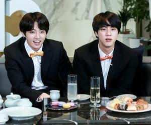 jin, jungkook, and v image