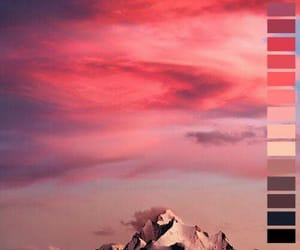 mountains, sky, and pink image
