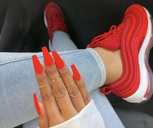 nails, red, and inspiration image