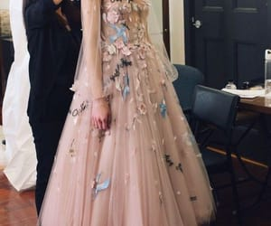 dress, flower, and gown image