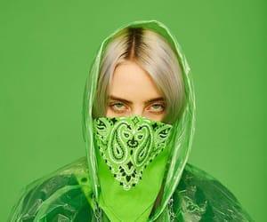 billie eilish and green image