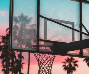 Basketball and sunset image