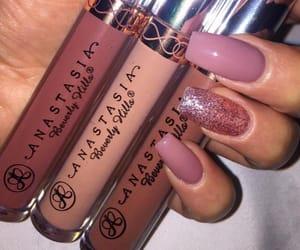 makeup, lipstick, and nails image