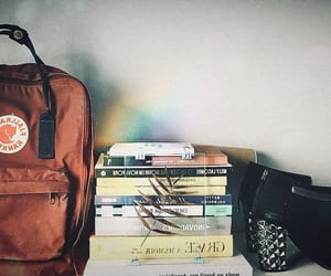 backpack, books, and fashion image