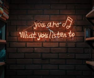 music, neon, and quote image