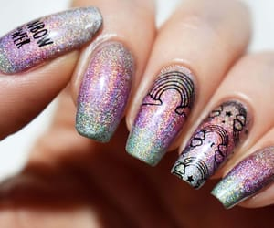 barry m, glitter, and nail art image