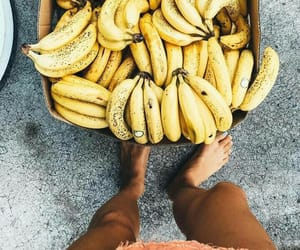 banana, fruit, and summer image