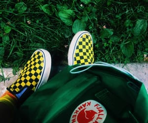 aesthetic, backpack, and checkerboard image