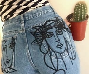 clothing, embroidery, and denim image