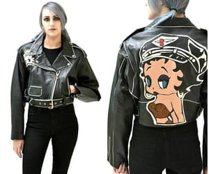 betty boop, jacket, and leather jacket image