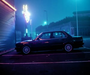 car, night, and neon image